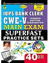 IBPS Bank Clerk CWE-V Main Exam, Superfast Practice 40 Sets (With CD)