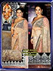 Vidya Balan Beige Net Saree with Blouse - LMMSBF21