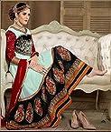 Designer Sky Long Anarkali Semi Stiched Salwar Suit By Fabfiza