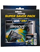 Gillette Mach3 Blades - 8 Cartridges with Free Mach3 Gel