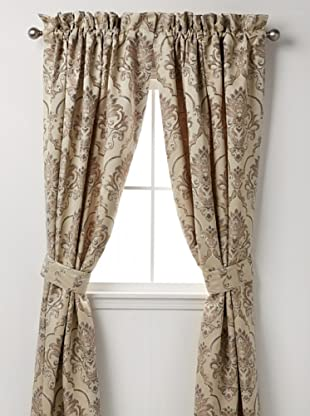 Waterford Linens Kerrigan Set of 2 Curtain Panels, Cream/Taupe, 50