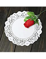 100Pcs (10pack) 7.5 Inch Round Paper Lace Cake Dessert Doilies Placemat