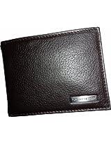 Tommy Hilfiger Tom-7213 Passcase Wallet For Men (Brown, Leather)