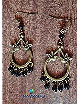 Antique bronze Birds with black beads