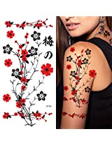 Supperb® Temporary Tattoos - Red Plum Flowers