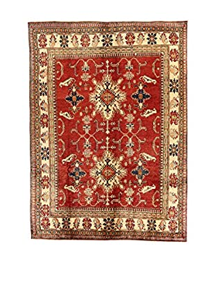 L'Eden del Tappeto Teppich Uzebekistan rot/beige 355t x t260 cm