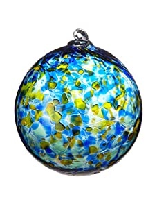 Asheville Glass Center Ornament, Blue/Amber