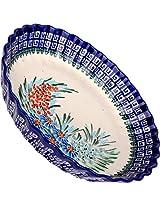 Polish Pottery Ceramika Boleslawiec-1212/169 9-7/8-Inch Pie Baker, Small