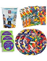 Bric Tek Birthday Party Supplies Set Plates Napkins Cups Kit for 16 Plus Stickers