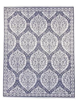F.J. Kashanian One-of-a-Kind Hand-Knotted Montauk Rug, White/Blue, 9' x 12'
