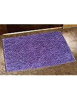 Avira Home 1650 GSM Shaggy Chenille 100% Cotton Bathmat-Floor Mat-Door Mat-Maroon