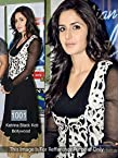 Black Anarkali Style Dress Worn by Katrina Kaif at Indian Idol