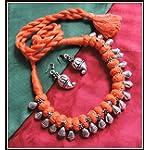 [N16O_015] Orange Thread Necklace 01