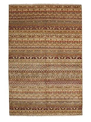 Darya Rugs Ikat Oriental Rug, Brown, 6' 1
