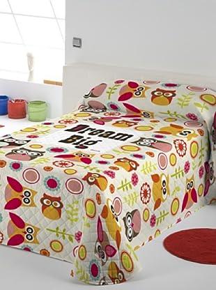 Colcha Bouti Dream Big Owl (Multicolor)