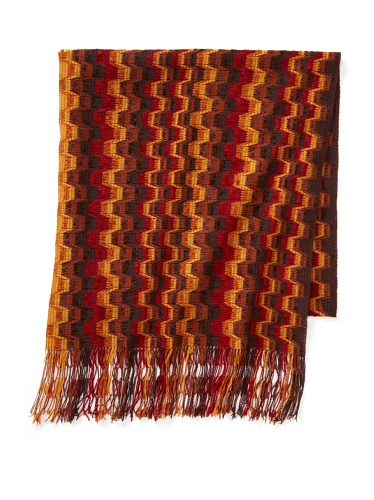 Missoni Women's Blocked Stripe Scarf, Rust/Brown