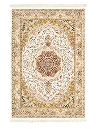Hand Loomed King David Rug, White, 5' 3