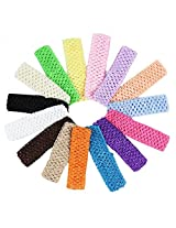 15 Pack of Crochet Headbands for babies, toddlers & girls