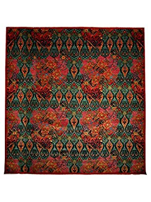 Darya Rugs Suzani Oriental Rug, Green, 12' 2