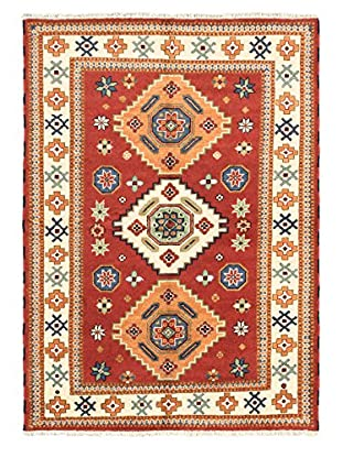 Hand-Knotted Royal Kazak Wool Rug, Dark Copper, 5' 7