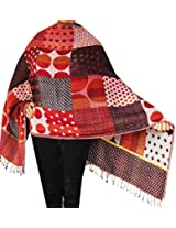 Indian Shawl Wrap Boiled Wool Womens Clothing Scarf Gift (76 x 26 inches)