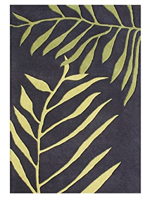 Horizon Rugs New Zealand Wool Rug (Black/Green Multi)