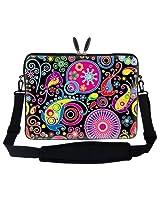 Meffort Inc 15 15.6 inch Laptop Sleeve Bag Carrying Case with Hidden Handle and Adjustable Shoulder Strap - Art Design