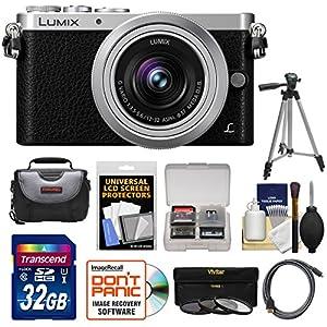 Panasonic Lumix DMC-GM1 Micro Four Thirds Digital Camera & 12-32mm Lens with 32GB Card + Case + Tripod + 3 Filters + Kit