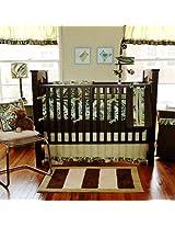 My Baby Sam 3 Piece Paisley Splash Crib Bedding Set, Lime