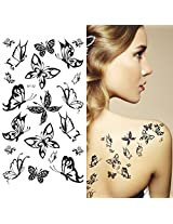 Supperb Temporary Tattoos Small Black Butterflies