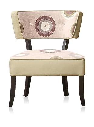 Armen Living Modern Petals Club Chair, Petal