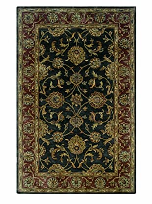 LR Resources Heritage Charcoal/Rust Rug