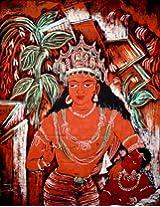 Avalokiteshvara of the Ajanta Caves - Batik Painting On Cotton