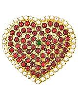 Heart shaped Jadai set(With Muthu)