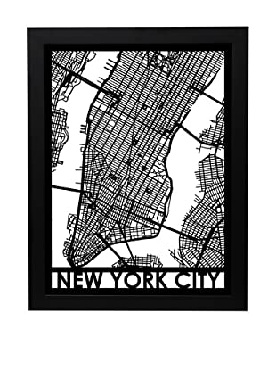 Cut Maps New York City Framed 3-D Street Map