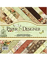 Set of 40 Thick Beautiful Pattern Design Printed Papers for Art n Craft, Size: 8x 8 Inch - 20 Unique Designs (2 Sheets PerDesign) - Theme: Comfortable Afternoon