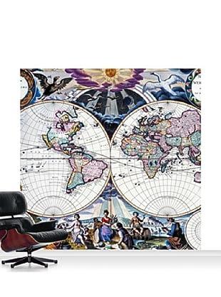 National Maritime Museum Goos Atlas Planisphere Mural, Standard, 8' x 8'