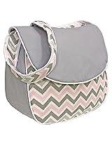 Hoohobbers Messenger Diaper Bag, Chevron Pink