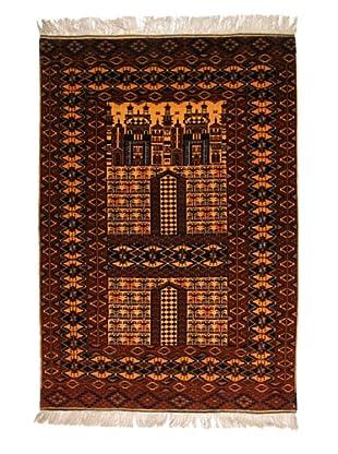 Roubini Old Afghan Fine W/ Silk Fringe, Multi, 6' 3