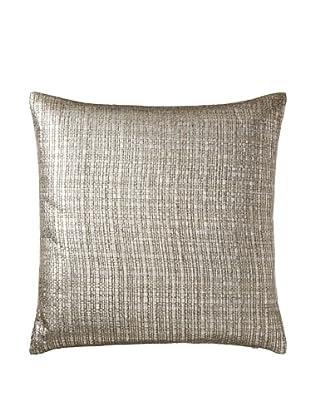 Aviva Stanoff Basketweave Pillow, Silver