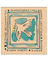 "Penny Black Mounted Rubber Stamp 3.5""X3.5"" Peace"
