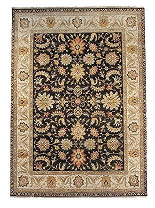 F.J. Kashanian One-of-a-Kind Hand-Knotted Oushak Rug, Black/Ivory, 8' x 10'