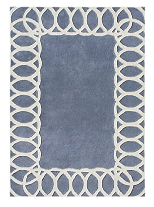 Alliyah Rugs New Zealand Wool Rug (Blue/Grey/Beige)