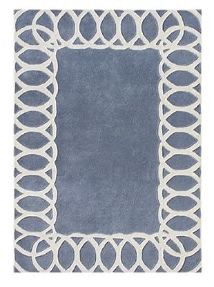 Alliyah Rugs New Zealand Wool Rug (Blue/Grey/Beige)