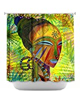 Shower Curtain Artistic Designer from DiaNoche Designs by Jennifer Baird Home Decor and Bathroom Ideas - African Queens
