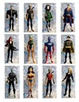 DC COMICS YOUNG JUSTICE ORNAMENTS - Set of 12 DC Comics Young Justice Ornaments, Featuring Superman, Wonder Woman, Whisper, Robin, Aqulad, Micron, Black Canary and Additional Young Justice Members, Ornaments Average 4 Inches Tall