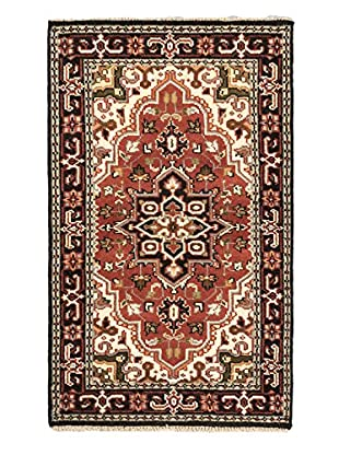Hand-Knotted Royal Heriz Wool Rug, Copper, 3' x 5' 1