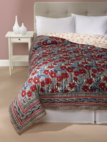 Kerry Cassill Quilt (Big Blue Floral)