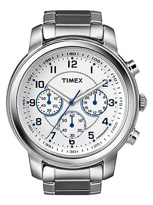 Timex T2N167. Reloj de Señora movimiento de cuarzo con brazalete metálico Blanco