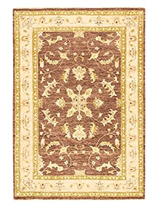 eCarpet Gallery One-of-a-Kind Hand-Knotted Chobi Rug, Brown/Ivory, 4' 7